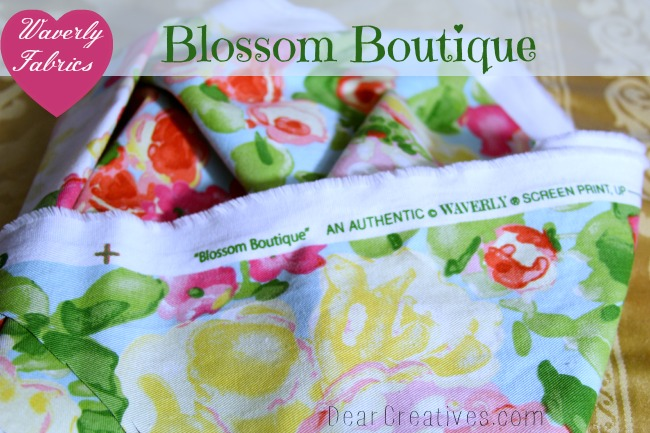 Waverly Fabrics, Blossom Boutique, DearCreatives.com, Theresa Huse 2013