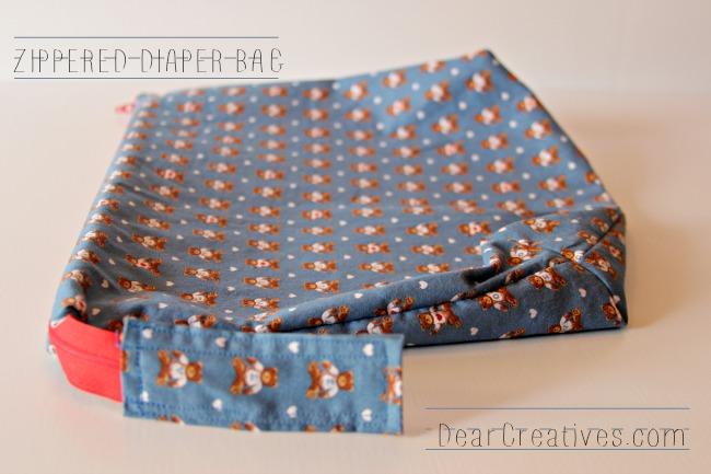 Zipper Bag, Zipper Diaper Bag, To Go Bag, DearCreatives.com,  Theresa Huse 2013