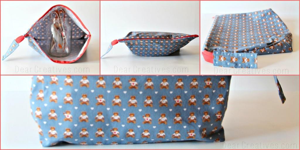 zippered bag, DearCreatives.com, Theresa Huse 2013