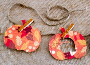 A is for Autumn, pumpkin banner, paper-crafts