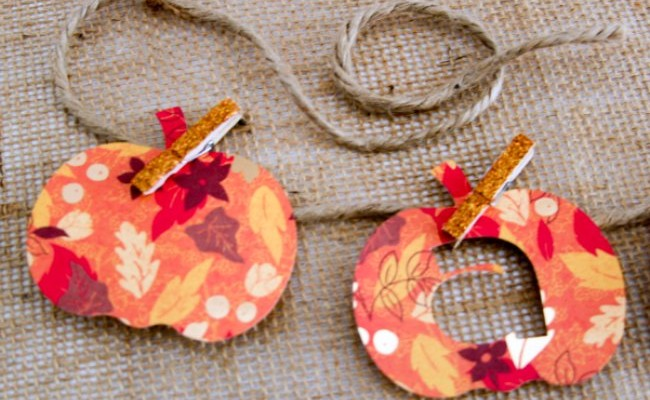 A is for Autumn, pumpkin banner, Theresa Huse 2013