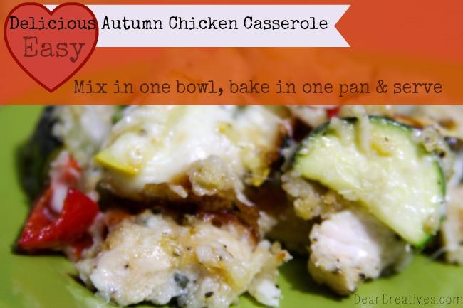 Chicken Casserole, Easy Dinner, Chicken Casserole on a dish, Theresa Huse