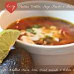 chicken tortilla soup, soup, soup topped with ch