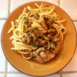 plate of chicken piccata, chicken piccata,dearcreatives.