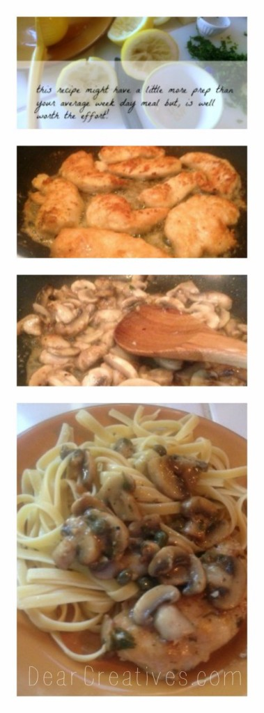 step by step cooking, chicken piccata, dearcreatives.com