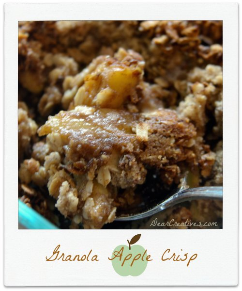 Autumn Delight Apple Crisp #Recipe