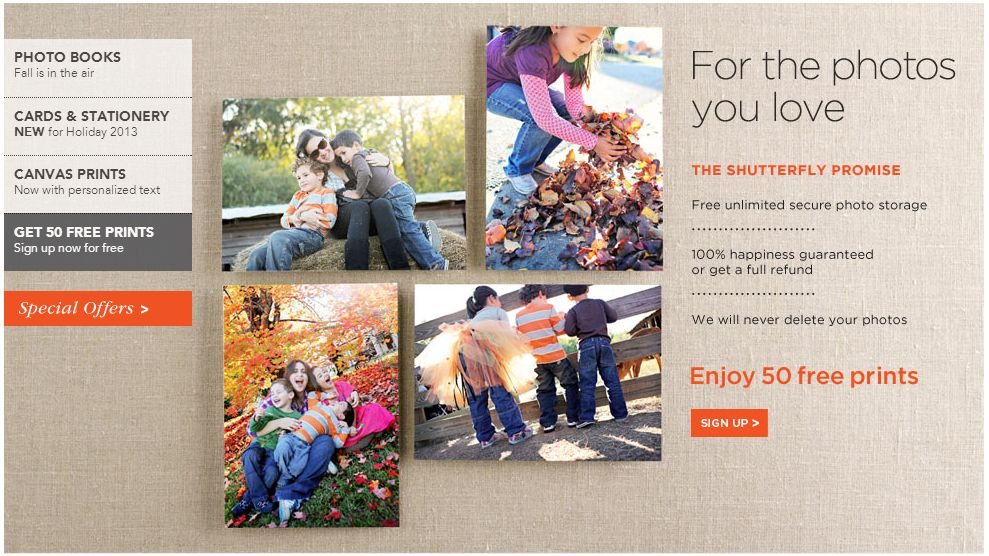 Enjoy 50 Free Prints From Shutterfly & Hurry for Other Great Savings!