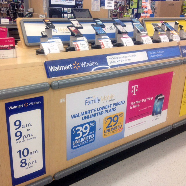 Walmart phone counter #shop #familymobilesaves