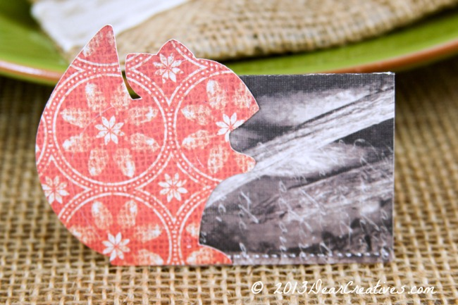 Woodland Themed Squirrel Place Cards for Tablescapes #Diy