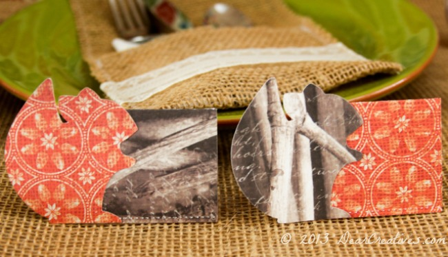Woodland Place Cards_ Place Cards Made with Cricut_DearCreatives.com