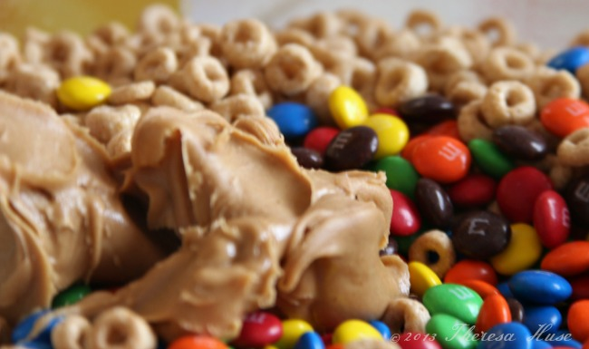 peanut butter_ m&ms_cherrios_#shop_Theresa Huse 2013