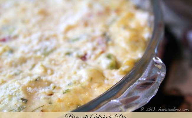 Delicious & Easy Party Appetizer: Broccoli Artichoke Dip
