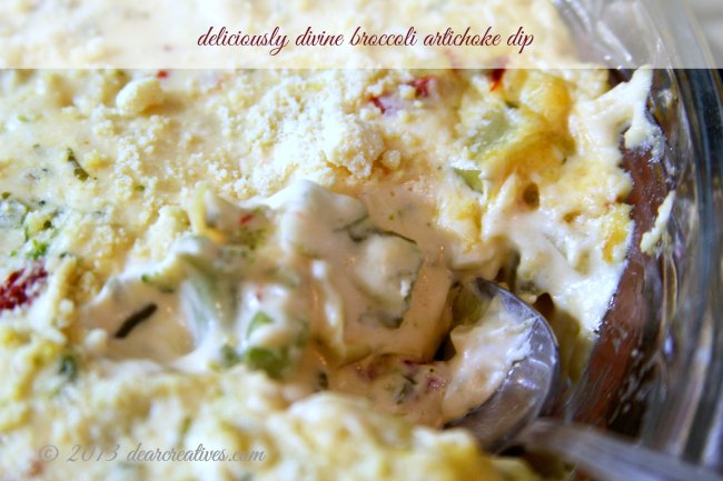 Delicious_Broccoli Artichoke Dip_Theresa Huse 2013