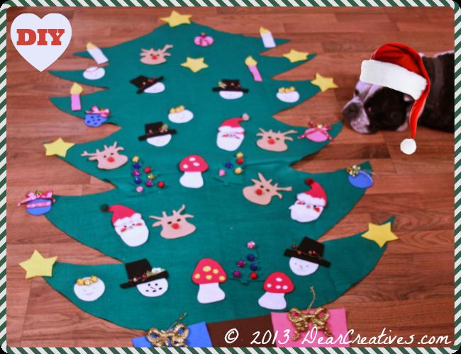Felt Christmas Trees for Kids #Diy - Dear Creatives