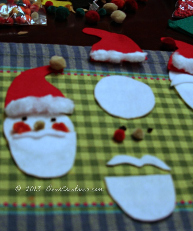 Felt Santa Face_ Felt Crafts_ DearCreatives.com_ Theresa Huse 2013