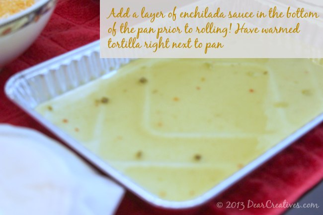 Pan with enchilada sauce in it_Theresa Huse 2013