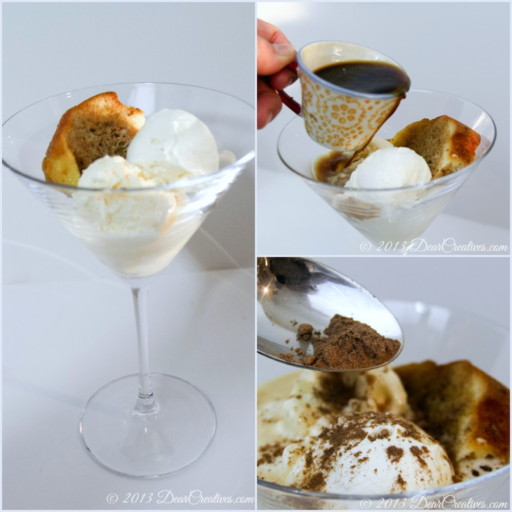 Tiramisu Affogato Dessert Steps set up to drowning with coffee_#shop_DearCreatives.com_ Theresa Huse 2013