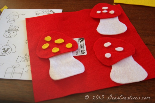 felt mushrooms_ felt Crafts _ DearCreatives.com_Theresa Huse 2013