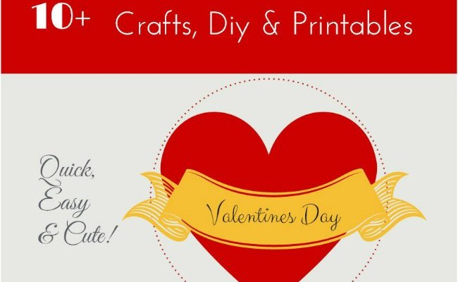 10+ Valentines Day Craft diy and printables_round-uo_ DearCreatives