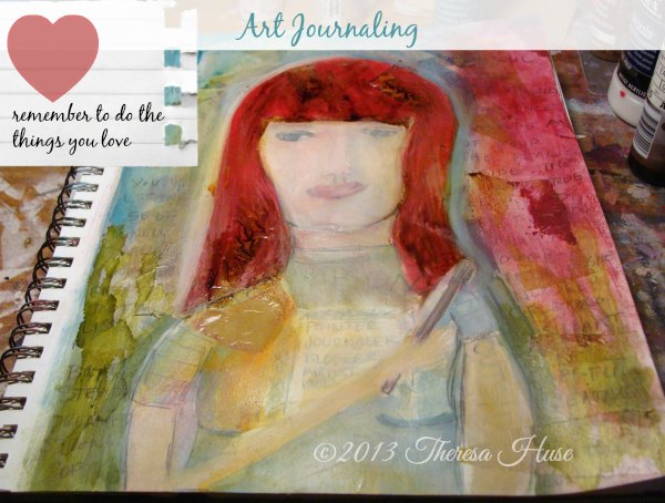 Art Journaling Reminder_journaling page_journal_Theresa Huse 2014
