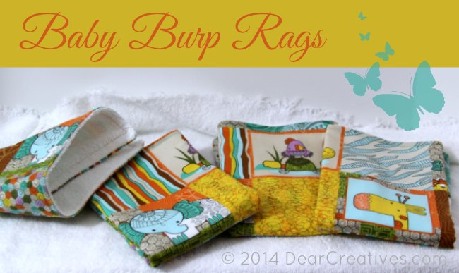 Baby Burp Rags_DearCreativestives.com