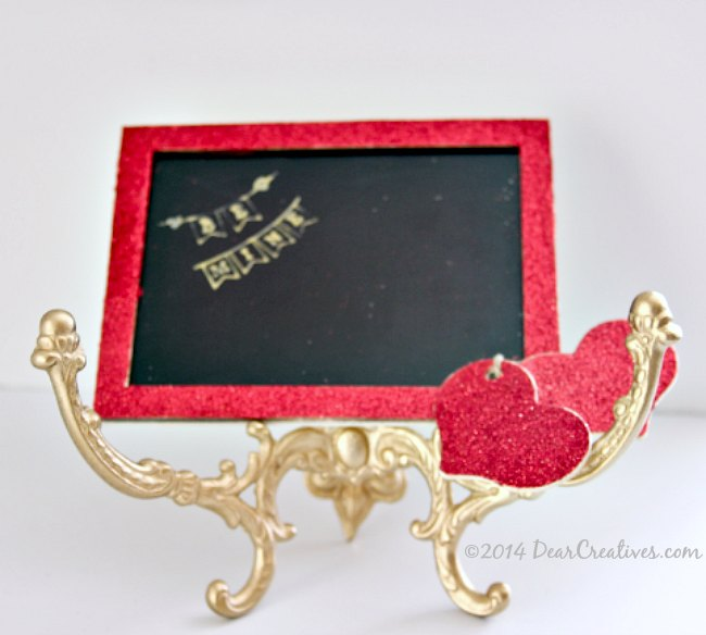 Crafts Valentines DayBe Mine Chalkboard Craft on vintage hanger