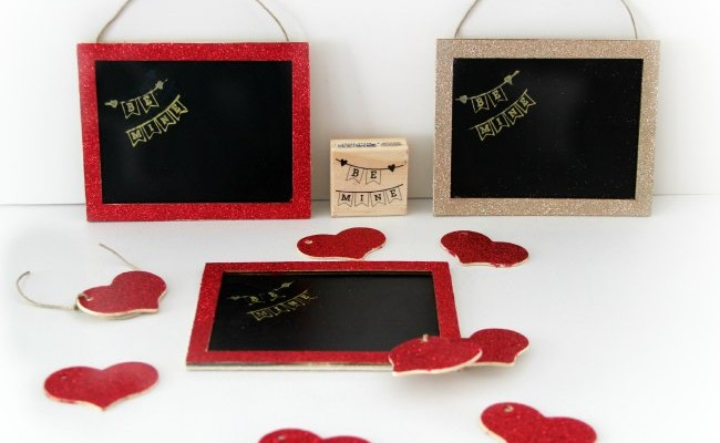 Be Mine Chalkboard_Craft Project_