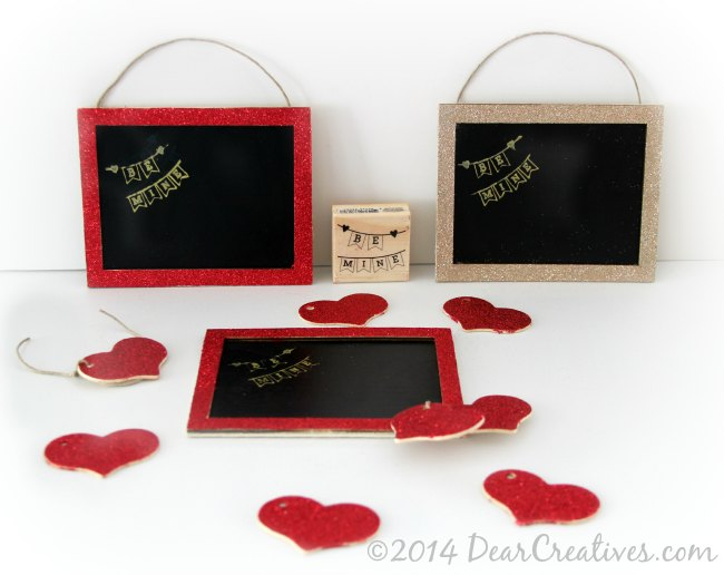 Crafts Valentines Day-Be Mine Chalkboard_Craft Project_