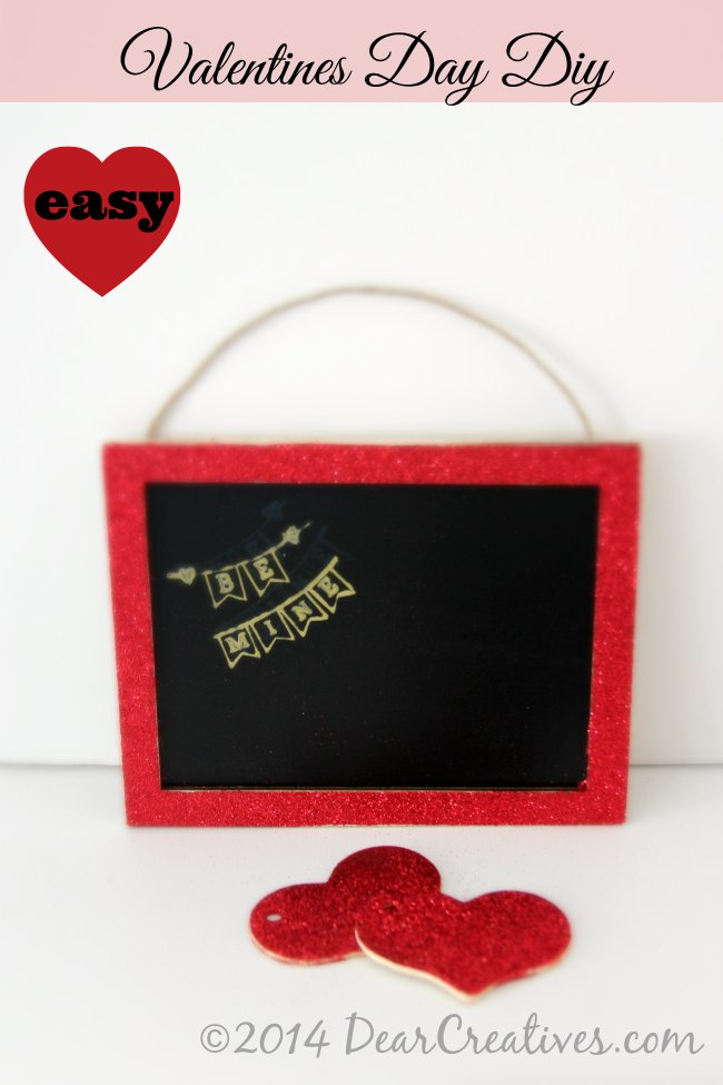 Crafts Valentines Day -Easy Valentines Day Diy_Chalkboard diy project_T