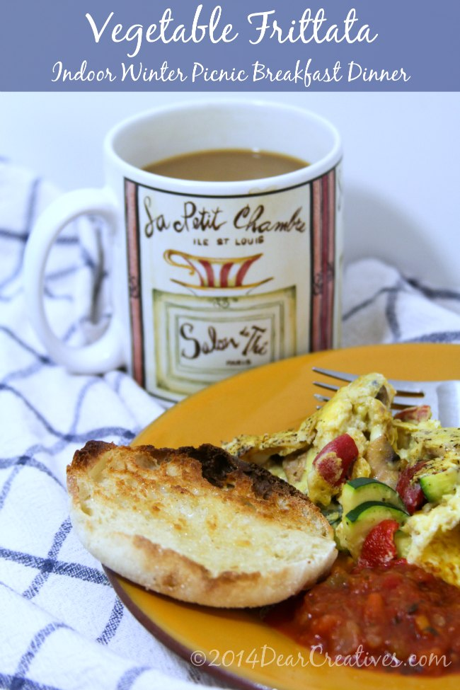 Indoor Winter Picnic Breakfast_Vegetable Frittata_Theresa Huse 2014