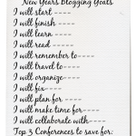 New Year's Goals Checklist Printables