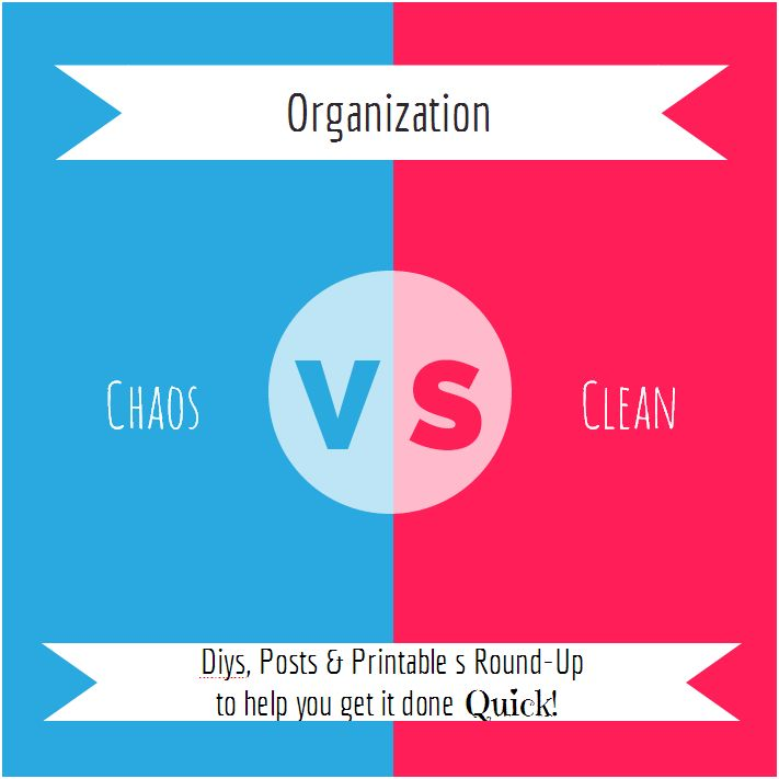 Organization Ideas & Printables Chaos vs Clean