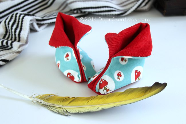 baby booties - how to sew baby booties - DearCreatives.com