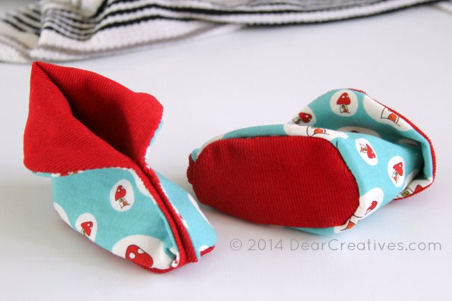 Quick and Easy Sewing For Baby – Baby Booties and Pattern