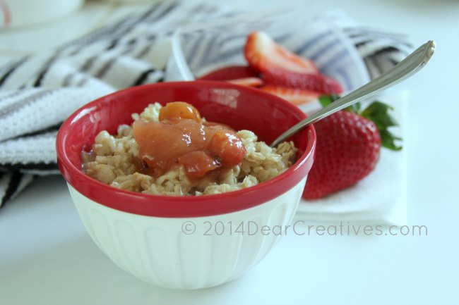 Oatmeal with topping in a bowl