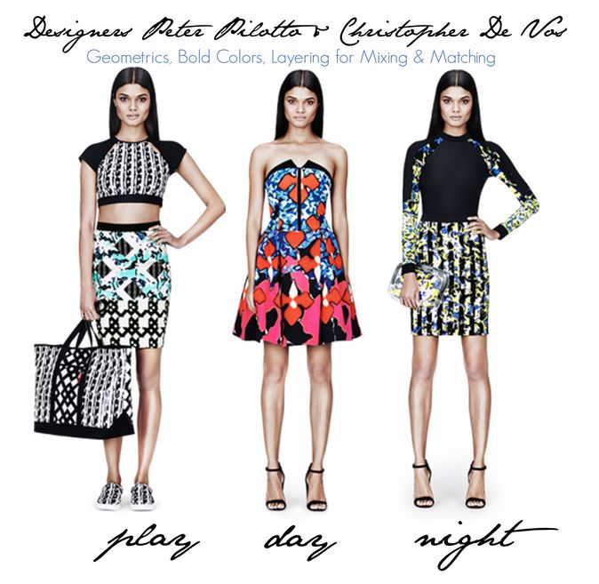 Bold, Geometric, Layers of Affordable Designer Fashions!  Preview Peter Pilotto Collection