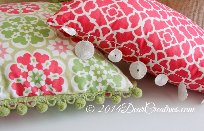 Decor Pillows sewn with trims_fabric pillows_