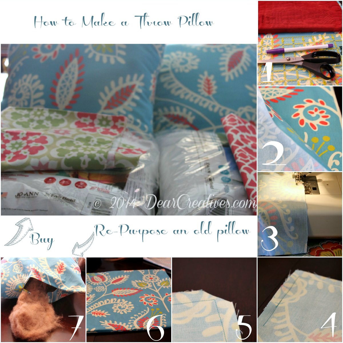 How to Make a Pillow_Step by step photos_