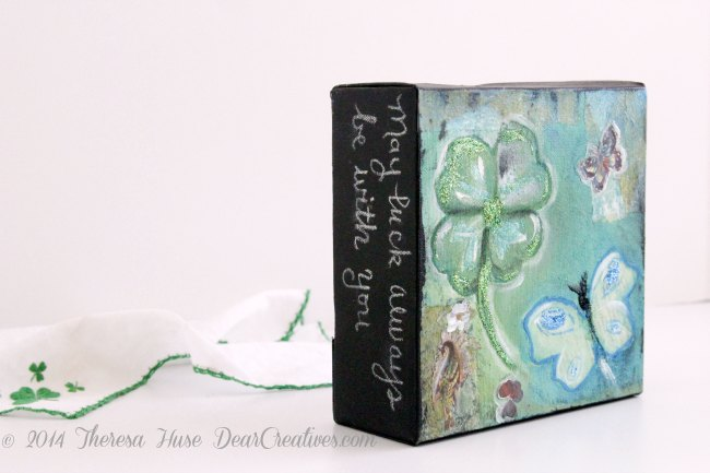 Mixed Media Painting Collage Project_ St. Patricks Day_Spring mixed media_
