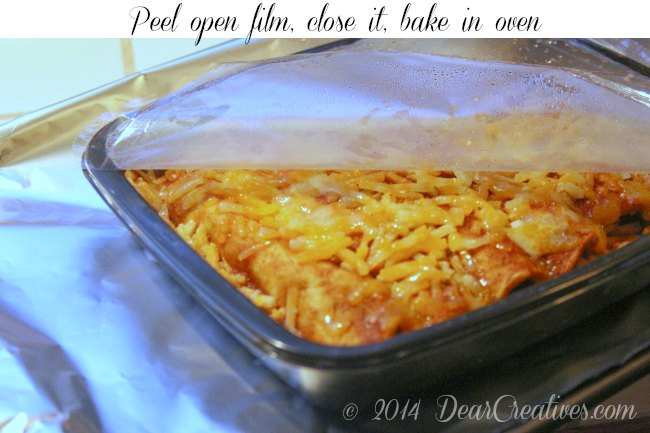 Old El Paso Enchiladas ready to bake in pan_
