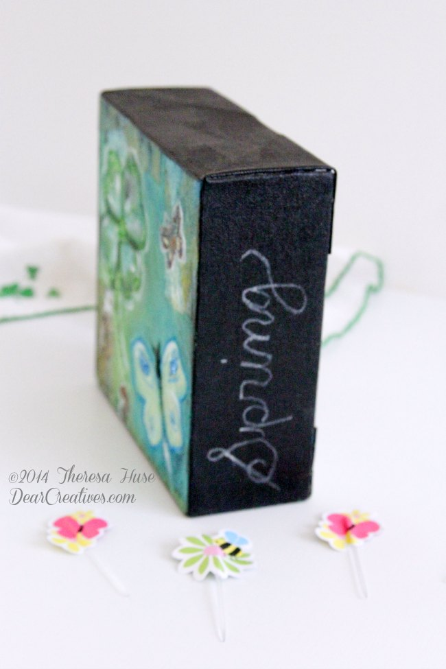 Mixed Media St.Patrick's Day Spring Painting Project #Diy