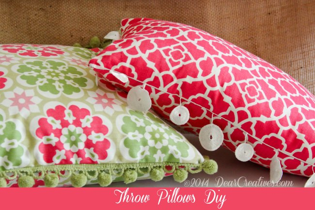 Throw Pillows_Spring Decor_Sewing_National Craft Month Diy