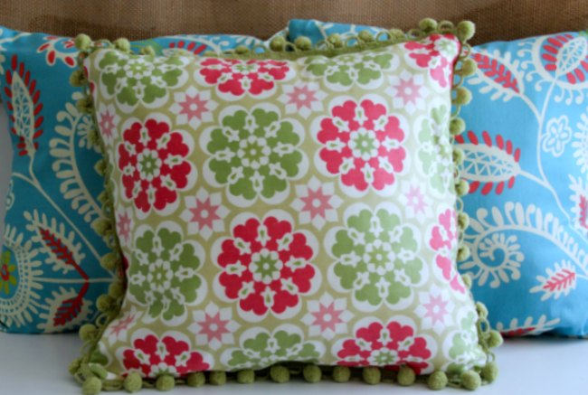 pillows made with fabrics from Jo-Ann Fabrics and Crafts