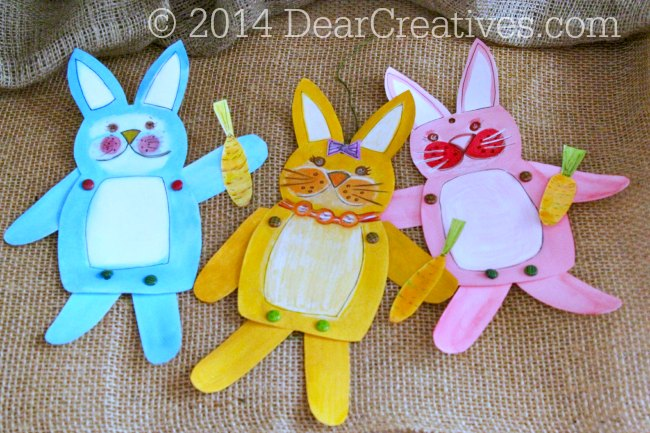 Make Your Own Paper-Crafts Bunny With Movable Arms and Legs