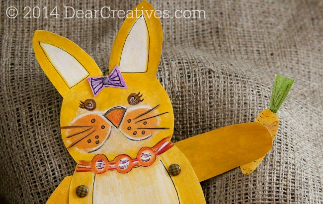Hand painted Bunny_ paper-crafts