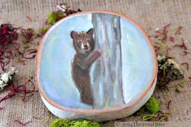 Bear_ Woodland Painting