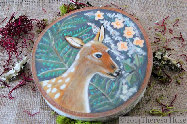 Deer _Woodland Painting on Wood