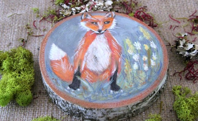 Fox _ Woodland Painting_