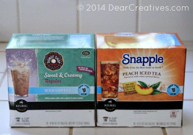 Keurig K-Cups Snapple Peach Tea and Donut shop Sweet and Creamy Regular Iced Coffee #shop_