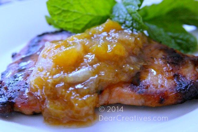 Peach Glazed Pork Chops With Peach Honey Glaze